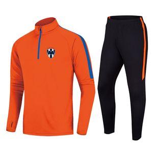 Monterrey Football Team Men's Tracksuit Polyester Jacket Soccer JerseyTop Training Gym Suit Outdoor Sportswear Jogging Wear