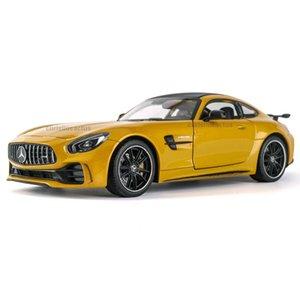 Scatola a cristallo di colore Benz AMG SuperRun GT R Model Car 3 colori opzionale Imballaggio 01:24 Simulazione Lega Model Car
