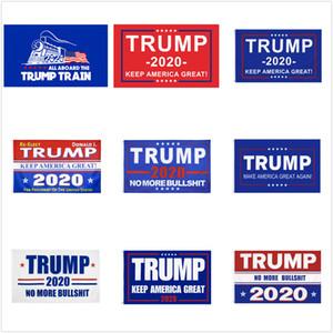 10 Entwürfe Trump Flags Donald Trump Flags 2020 Wahl Halten Sie Amerika Großen Donald für Präsidenten Kampagne Banner 90 * 150cm Garten Flaggen