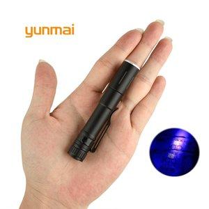мини-LED UV 7W 1000LM Водонепроницаемый фонарик LED Масштабируемые Lanterna батареи для детектор денег или ночной рыбалки s6