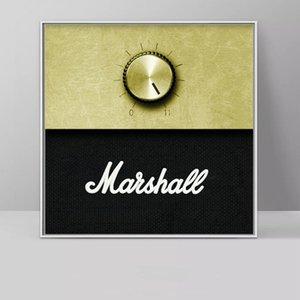 사진 모듈 형 벽 예술 홈 장식 캔버스 회화 마샬 앰프 볼륨 노브 음악 인쇄 북유럽 포스터를 들어 거실