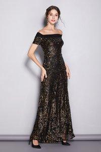 omuz uzun gece elbisesi yıllık toplantısı Balo Elbise kapalı Yeni promosyon Payet