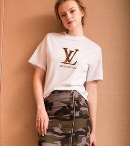 Womens T-shirt de luxe de T-shirt d'été marque courte lettre T-shirt manches d'impression pour hommes et femmes 2020 Taille US S-XXL
