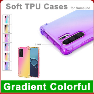 Endurable TPU Gradient Color Case for Huawei P40 30 20 Pro Mate 30 20 10 lite Transparent Shockproof Air Cushion Mobile Phone Cases