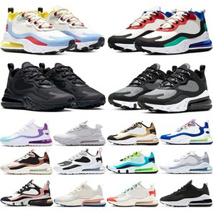 Nike Air Max 270 React A buon mercato TN PLUS Uomo Donna Running Shoes BE TRUE Giallo Triple Nero Bianco Oreo Volt Viola Uomo Designer Trainer Sport Sneaker