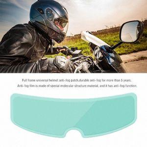 Шлем Clear Pinlock анти туман Patch фильм Универсальный мотоциклетный шлем объектива Противотуманные Устойчивые Фильмы для K4 AX8 LS2 HJC MT касок Байкер Helm y8id #