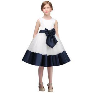 Big Bow Fashion Children Girls Evening Party Dress Flower Summer Elegant Princess Kids Dresses For Girls Costume Flower Girls Dress Plus Siz