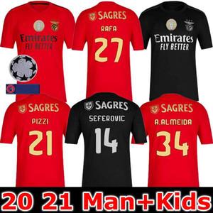 20 21 벤피카 축구 유니폼 티셔츠 2020 2021 PIZZI 홈 축구 셔츠 비니 t- 셔츠 라파 성인 어린이 키트 셔츠 Camisa Camiseta 타이츠