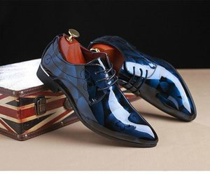 Fashion Red Men Wedding Shoes New Arrival Pointed Toe Leather Shoes Man Plus Size 12 13 Black Party Shoes Zapatos