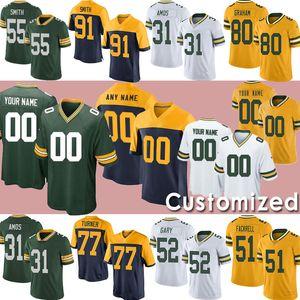 Green Bay personalizado11 Devin Funchess PackerJersey 55 Za'Darius Smith Dillon 80 Donald Driver 2 Mason Crosby Football Jerseys