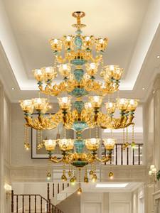 Dubleks Bina Büyük Avize Villa Salon Merdiven Üç katlı Büyük Kristal Sarkıt Bina Otel Long Kristal Avize Işık