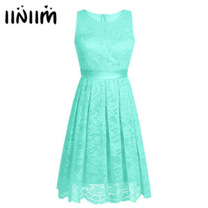Ladies Women Top Floral Lace Summer 2020 Hot Dress Cocktail Prom Gown for Weeding Birthday Party First Communion Dresses