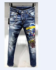 HOT Arrival Winter Mens Designer Jeans Style High Street Letter Jeans Quality Fashion Classic Designer Mens Pant Top Quality 9253