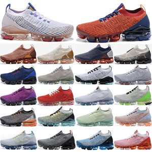 الجديدة أعلى جودة وصول يطير 2.0 3.0 2.0 3.0 احذية حك رجل المرأة الاحذية حذاء أسود أبيض الثلاثي CNY النمر قوس قزح الرياضة