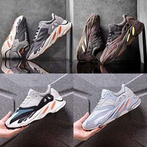 Modelos otoño del resorte de cuero suave Bottom Girls Kanye West Kanye West 700 700 zapatos salvajes plana zapatillas de deporte de los niños flor de la perla princesa de los niños # 735