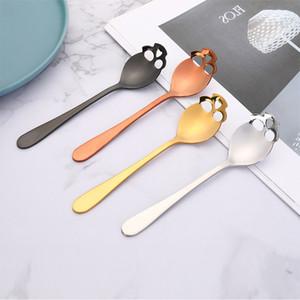 Kafatası Scoops Paslanmaz Çelik Sondaj Ladles Metal Uzun Sap Muti Renk Kaşık bulaşığı Pasta Tatlı Yeni Geliş 2 5kn C2