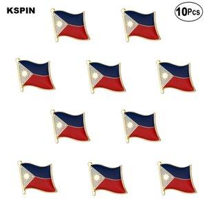 La bandera de Filipinas solapa del indicador de la insignia del Pin Pin Broche