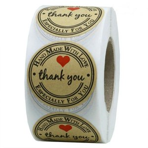 Kraft Paper Hand Made Thank You Stickers 500pcs roll Appreciation Tag Label for Partners Business Bag Sealing Especially For you