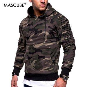 MASCUBE Moda camuflaje para hombre sudaderas con capucha Establece gruesa ropa de invierno de Hip Hop de Calle Solid Polo Camisa Hombre Ropa