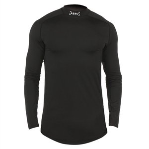 2020 Men's Spring Autumn New Long-sleeved T-shirt Round Neck Slim Quick-drying Sports Bottoming Shirt Sports Wear for Men Gym