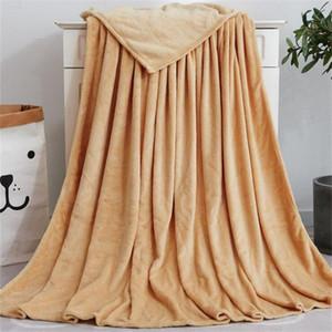 الجملة لون الصلبة البطانيات ثخن لينة بطانية للأطفال الكبار الشتاء القطيفة شال الأريكة الأريكة رمي الصوف التفاف منسوجات منزلية