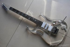 Wholesale New Arrival Ibanejem Electric Guitar Made of Transparent plexiglass In transparent 130101