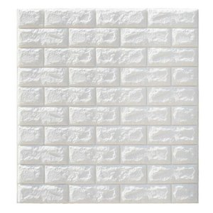 10 Colors 3D Wallpaper PE Foam DIY Wall Stickers Home Decoration Wall Decor Embossed Brick Stone Living Room Bedroom Background uy2008 VxCQM