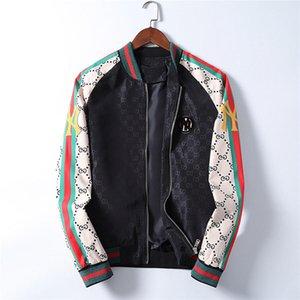 20206new 2020 otoño del resorte de los hombres Casual Streetwear con capucha de la chaqueta floral hombre impermeable ropa de abrigo para hombre rompevientos Outwear masculino M-3XL