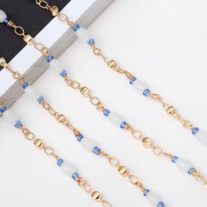 perles mode de haute qualité perles de cristal de la chaîne lunettes de presbyte faits à la main enchaînez lunettes de presbyte antichaîne