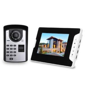 7 pollici Monitor impronte Remote Password Sblocca Control HD Video Camera campanello della porta telefono citofono senza fili