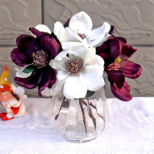 Wedding flower vintage orchid Magnolia silk artificial flowers bride bouquet office table home hotel wall decoration flores