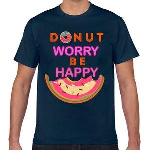 T Gömlek erkekler çörek endişe mutlu komik çörek Kawaii Yazıtlar Özel Erkek Tişörtü olmak Tops