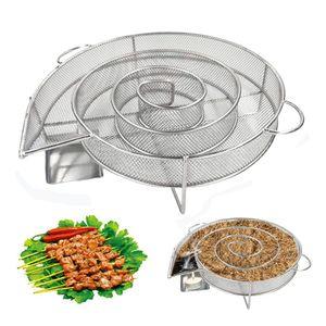 연어 고기 스테인레스 바베큐 도구 요리 굽기 흡연 BBQ 그릴이나 흡연자 목재 먼지 핫과 콜드을 위해 발전기를 연기 콜드