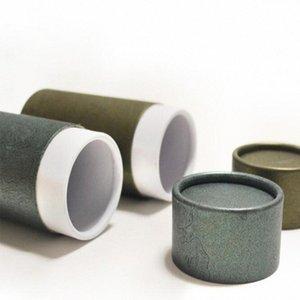 30pcs Kraft Paper Tube Box 10ml 20ml 30ml 50ml 100ml Hard Cardboard Packaging Box Storage Paper Can YWmQ#