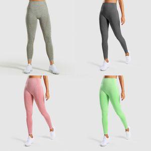 LU Exercise Yoga Tights Pants Skinny Solid Color Elastic High Waist Slim Leggings Pant Womens Sexy Trouser Female Apparel Clothing 44Dq E#381
