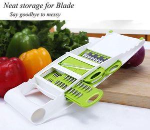 Eco-Friendly 7 In 1 Adjustable Mandoline Slicer Multifunctional Peeler Grater Stainless Steel Blades Vegetable Cutter Cooking Tools Zl DIbg#