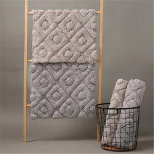 LCTMMYGS espesado estera del piso del algodón dormitorio en la puerta de la no Slip Mat baño toalla Tierra puerta de salida Cojines Patio Sustitución del amortiguador ABHK #