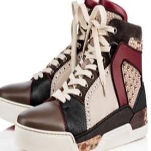 Erkekler için lüks Loubikick Düz Kırmızı Alt Sneaker Ayakkabı, Kadınlar Dikenler Açık Partisi Moda Casual Yürüyüş Ayakkabı VK4
