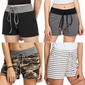 New 2020 Women Vintage Floral Geometric Print Shorts Ladies Pocket Casual Slim Shorts Chic Elastic Waist Pantalone Cortos P625#8221