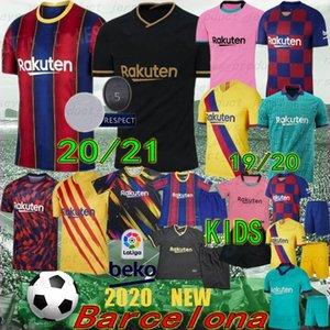 Thai 20/21 FC Barcellona Jersey di calcio 10 Messi 17 Griezmann Camisetas de Futbol Ansu fati 19/20 de Jong Maillots de calcio camicia uomo bambini