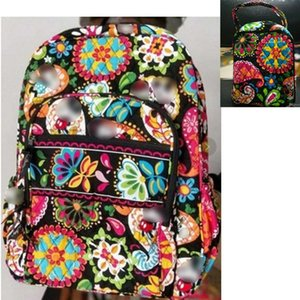Cotton Cartoon Campus Backpack School math with lunch bag new with tags
