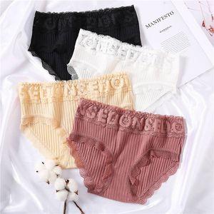 Lettres creuses culottes sexy femmes dentelle Sous-vêtements Caleçon pour Femme Coton Culotte Solide Couleur Lingerie Floral Pantys