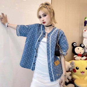 Autumn 2020 national fashion overalls full of printed denim short-sleeved T-shirts and loose denim jackets for men and women