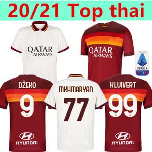 20 21 AS Roma el fútbol casero de los jerseys KOLAROV 2020 2021 TOTTI maglia da calcio Dzeko distancia Uniformes camiseta de fútbol para hombre CENGIZ BAJO Kit Kluivert