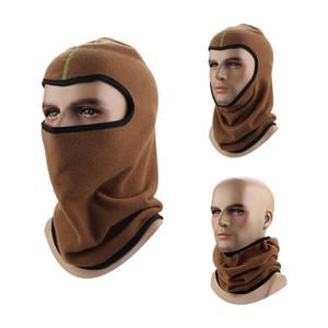 Más grueso Fleece Barakra Sombrero cycling capsula motocicleta táctico máscara máscaras plegable sombrero a prueba de viento de esquí Deporte de invierno sombreros sombrero caliente DH0350