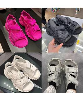 Balenciaga Balanciaga New Paris Mens Womens Designer Spur Sandalen Mode Freizeitschuhe Hausschuhe Gleitbacke für Männer Frauen Thick Boden Strand Sandalen q71V #