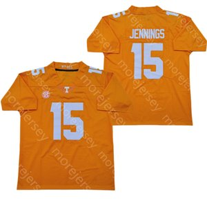 2020 NCAA Теннесси Добровольцы футбол Джерси колледж 15 Jauan Дженнингс Черного Оранжевое Все прошитые и вышивка Размер S-3XL