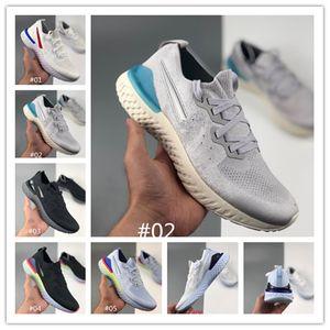 kolej lacivert Üçlü Beyaz koyu gri örme tasarımcı spor Beyaz Fusion uçuş Epik S0UTH koşu ayakkabıları eğitmenler kadınları mens Tepki