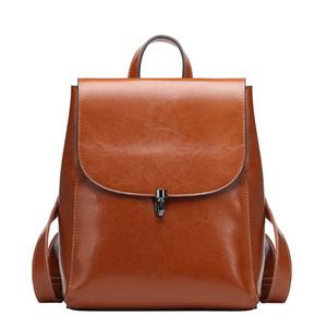 ABER 2020 New Bagckpack pequeno coreano Moda Couro Grande Capacidade Mulheres Mochilas 4 cores Leisure Travel Bag