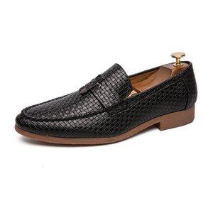 Quaoar plus la taille 47 chaussures hommes luxe conduite sociale cuir décontractée marque design robe adulte mode mocassins
